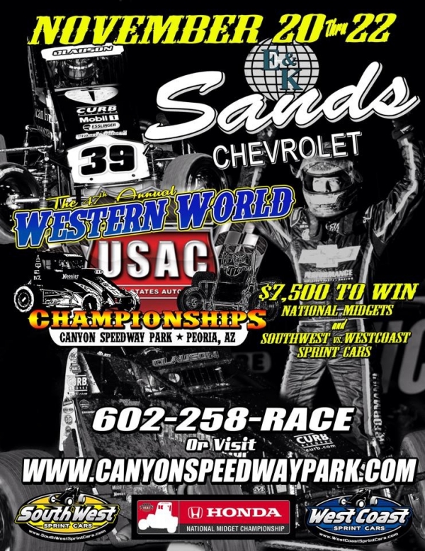 """WESTERN WORLD"" MIDGET FINALES AT CANYON THIS WEEK"