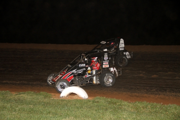 Chriopher Bell and Bryan Clauson lead the Honda National Midget Series.