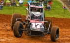 USAC AMSOIL National Sprint Car leading rookie Stevie Sussex of Tempe, Arizona.