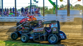 4-wide USAC NOS Energy Drink National Midget action was more the rule than the exception in 2019.