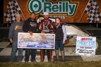 Robert Ballou in victory lane after winning Friday night's USAC AMSOIL Sprint Car National Championship feature at Bubba Raceway Park in Ocala, Florida.