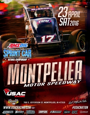 AMSOIL SPRINTS MAKE MONTPELIER DEBUT SATURDAY; CLAUSON, STOCKON LOG BLOOMINGTON, HAUBSTADT WINS