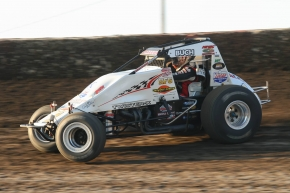 Robert Ballou won his second straight USAC AMSOIL National Sprint Car feature at Lakeside Speedway, also scoring the win in the series' most recent visit in April of 2015.