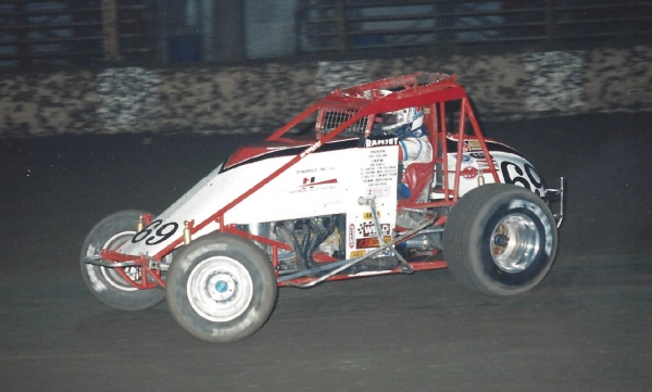 Dave Darland, seen here in 1996 at Wisconsin's Hales Corners Speedway, is among the eight Class of 2017 inductees to the National Sprint Car Hall of Fame.
