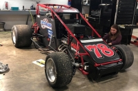 Eric Gordon's USAC Silver Crown ride gets the finishing touches in the Armstrong Racing shop.