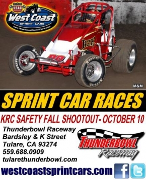 WEST COAST SPRINTS VISIT THUNDERBOWL SATURDAY