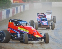 "2011 ""Tony Hulman Classic"" winner Chris Windom leads the pack last season at the Terre Haute (Ind.) Action Track."
