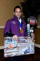 Damion Gardner earned the 2015 AMSOIL USAC/CRA Sprint Car championship