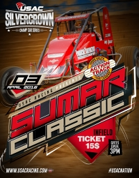 SWANSON BEGINS QUEST FOR USAC HISTORY SUNDAY IN TERRE HAUTE'S SUMAR CLASSIC SILVER CROWN OPENER