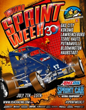 GAS CITY INDIANA SPRINT WEEK ROUND 1 POSTPONED TO MONDAY, JULY 10