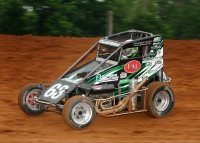 Bryan Clauson (pictured) leads the Indiana Midget Week standings heading into Sunday night's race at Kokomo Speedway.
