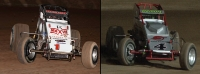 2015 USAC AMSOIL National Sprint Car champ Robert Ballou (left) & USAC/CRA Sprint Car champ Damion Gardner.