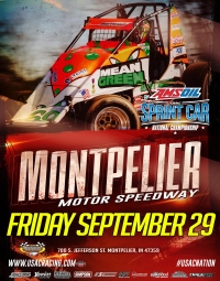 RACEDAY: Montpelier - USAC AMSOIL National Sprints - Sept. 29, 2017