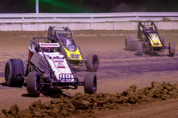 "#98e Chad Boespflug leads the pack during ""Winter Dirt Games"" last year."