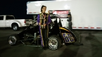 Toni Breidinger poses after winning at The Bullring.