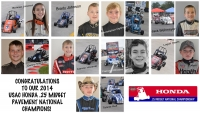 Congratulations to our 2014 USAC Honda .25 Midget Pavement National Champions!