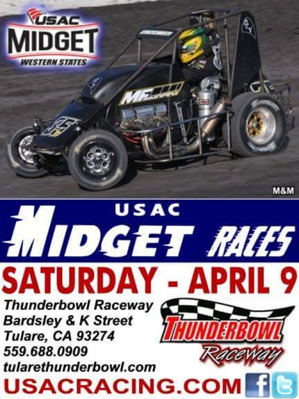 WESTERN STATES MIDGETS AT THUNDERBOWL RACEWAY THIS SATURDAY