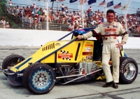 1992 USAC National Sprint Car champion Robbie Stanley poses during driver introduction prior to the feature at Kokomo (Ind.) Speedway on June 28, 1992.
