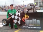 Cooper Clouse  poses after his M40 Honda Ignite victory.