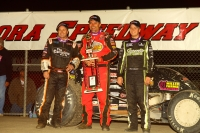 Dave Darland was joined on the podium by Chase Stockon and Tracy Hines.