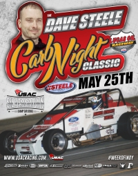 USAC SILVER CROWN CARB NIGHT CLASSIC TO HONOR DAVE STEELE MAY 25