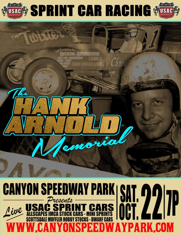 CANYON WELCOMES USAC SOUTHWEST SPRINTS FOR HANK ARNOLD MEMORIAL ON SATURDAY
