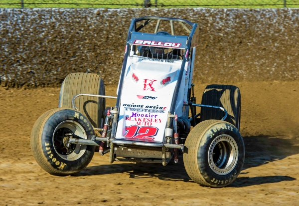 Robert Ballou returned to victory lane Saturday night at Eldora Speedway in his second race back after an 8-month recovery from serious injuries suffered in a 2016 racing accident.