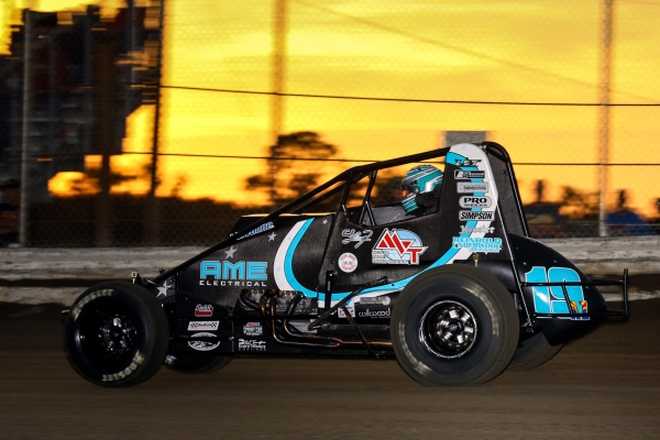 C.J. Leary and Reinbold/Underwood Motorsports recorded their first victory Saturday night at Bubba Raceway Park.