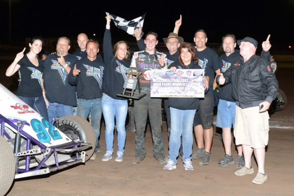 Jake Swanson and crew celebrate after their win at Ventura.