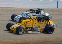 Kody Swanson on his way to the season-opening USAC Silver Crown victory in March at Memphis.
