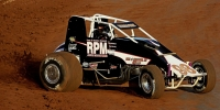Chris Windom slingin' dirt at Williams Grove Speedway.