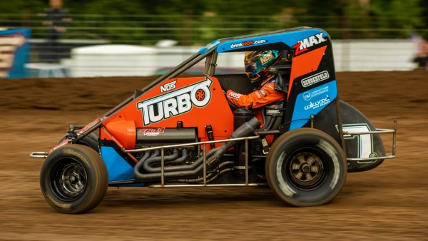 Tyler Courtney became the first multi-time winner of the Midwest Midget Championship Saturday night at Jefferson County Speedway in Fairbury, Nebraska.