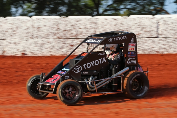Christopher Bell drove a Keith Kunz-owned car owned to USAC P1 Insurance National Midget victory lane for the 100th time Tuesday night at Red Dirt Raceway in Meeker, Oklahoma.
