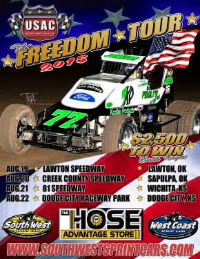 "SOUTHWEST ""FREEDOM TOUR"" BEGINS WEDNESDAY AT LAWTON"