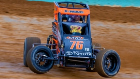 Jason McDougal (#76m) was one of five first-time USAC NOS Energy Drink National Midget winners in 2019, the most in a single season with the series since 2008.