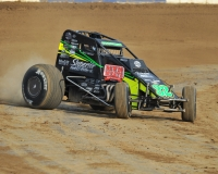 "Chase Stockon won Sunday night's USAC AMSOIL Natiional Sprint Car feature at the Terre Haute Action Track, the finale for ""Indiana Sprint Week"" 2016."