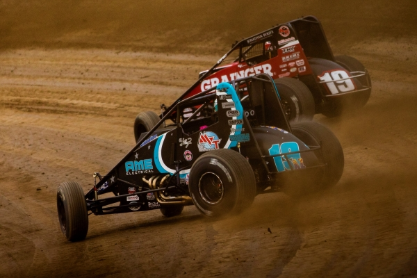 #19AZ C.J. Leary and #19 Kevin Thomas, Jr., top-two in USAC AMSOIL National Sprint Car standings.