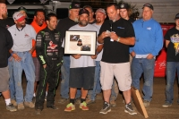 Steve Alexander receives a Special Achievement Award at Perris Auto Speedway.