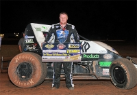 R.J. Johnson poses after winning at Lawton, OK.