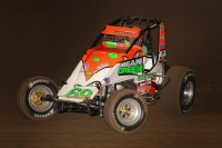 USAC AMSOIL National Sprint Car point leader Brady Bacon won a USAC AMSOIL National/CRA Sprint Car feature at Tucson, Arizona's USA Raceway last November.