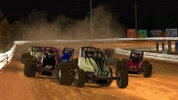Alex Bergeron (14) finally found the winners circle in iRacing USAC World Championship presented by FloRacing action from Williams Grove Speedway.