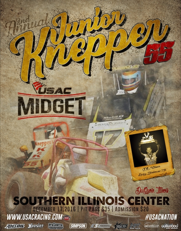 FREE ONLINE ENTRY NOW OPEN FOR JUNIOR KNEPPER 55 USAC MIDGET COMPETITORS