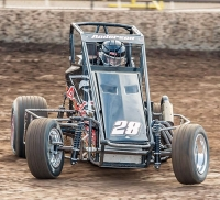Daniel Anderson won last Wednesday's USAC Western HPD Midget race at Ventura (Calif.) Raceway.