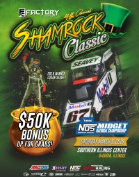 FREE ENTRY OPEN FOR MARCH 9 SHAMROCK CLASSIC