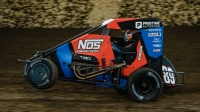 Chris Windom (Canton, Ill.) captured his first Kokomo Grand Prix victory, and first win of the 2021 USAC NOS Energy Drink National Midget season, Saturday night at Kokomo (Ind.) Speedway.